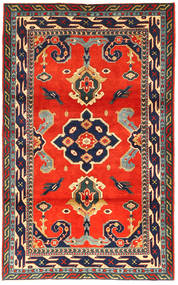 Kazak Matto 105X173 Itämainen Käsinsolmittu Tummanharmaa/Oranssi (Villa, Azerbaidzan/Venäjä)