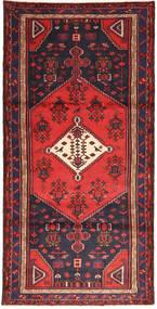Hamadan Matto 97X195 Itämainen Käsinsolmittu Tummanvioletti/Ruskea (Villa, Persia/Iran)