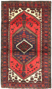 Hamadan Rug 77X130 Authentic  Oriental Handknotted Brown/Dark Red (Wool, Persia/Iran)