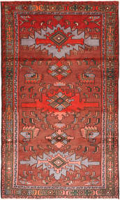 Hamadan Rug 110X190 Authentic Oriental Handknotted Dark Red/Dark Brown (Wool, Persia/Iran)