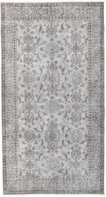 Colored Vintage Teppich  111X208 Echter Moderner Handgeknüpfter Hellgrau/Dunkelgrau (Wolle, Türkei)