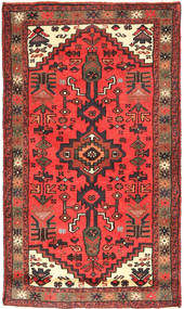 Hamadan Rug 74X123 Authentic  Oriental Handknotted Dark Brown/Orange (Wool, Persia/Iran)