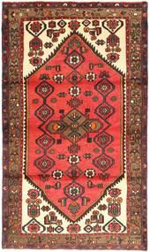 Hamadan Matto 105X182 Itämainen Käsinsolmittu Tummanpunainen/Tummanruskea (Villa, Persia/Iran)
