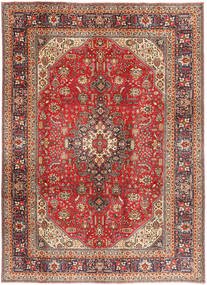 Tabriz Rug 200X281 Authentic  Oriental Handknotted Dark Brown/Dark Red (Wool, Persia/Iran)