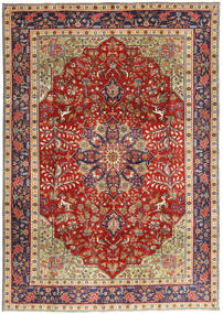 Tabriz Patina Rug 193X277 Authentic Oriental Handknotted Dark Red/Dark Purple (Wool, Persia/Iran)