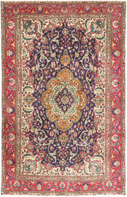 Tabriz Rug 200X307 Authentic  Oriental Handknotted Light Brown/Dark Red (Wool, Persia/Iran)