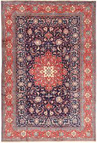 Sarough Matta 210X308 Äkta Orientalisk Handknuten Mörklila/Ljuslila (Ull, Persien/Iran)