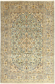 Keshan Teppe 242X366 Ekte Orientalsk Håndknyttet Beige/Lysbrun (Ull, Persia/Iran)