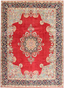 Kerman Rug 275X382 Authentic  Oriental Handknotted Light Brown/Crimson Red Large (Wool, Persia/Iran)