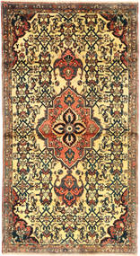 Hamadan Rug 105X205 Authentic  Oriental Handknotted Dark Grey/Yellow (Wool, Persia/Iran)