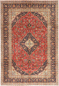 Keshan Matto 202X293 Itämainen Käsinsolmittu Vaaleanruskea/Ruskea (Villa, Persia/Iran)