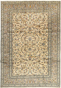 Keshan Rug 245X350 Authentic  Oriental Handknotted Light Brown/Dark Grey (Wool, Persia/Iran)