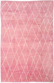 Handknotted Berber Shaggy Rug 273X415 Authentic  Modern Handknotted Light Pink/Pink Large (Wool, Turkey)