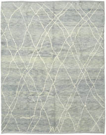 Handknotted Berber Shaggy Rug 248X308 Authentic  Modern Handknotted Light Grey (Wool, Turkey)