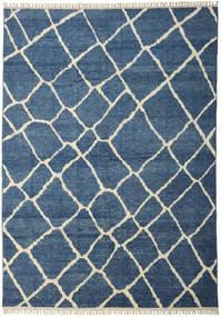 Handknotted Berber Shaggy Matta 281X401 Äkta Modern Handknuten Blå/Mörkblå Stor (Ull, Turkiet)