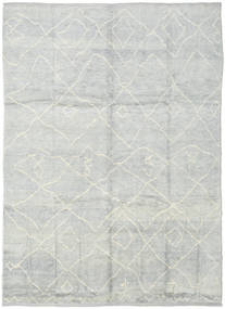 Handknotted Berber シャギー 絨毯 236X316 モダン 手織り 薄い灰色/ベージュ (ウール, トルコ)