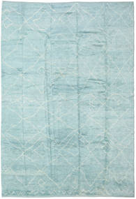 Handknotted Berber Shaggy Rug 296X429 Authentic  Modern Handknotted Light Blue/Turquoise Blue/Pastel Green Large (Wool, Turkey)