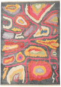 Handknotted Berber Shaggy Matta 178X249 Äkta Modern Handknuten Mörkgrå/Mörkbeige (Ull, Turkiet)