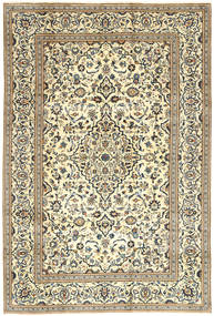 Keshan Rug 198X291 Authentic  Oriental Handknotted Beige/Light Brown (Wool, Persia/Iran)