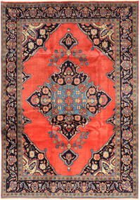Nahavand Matto 225X324 Itämainen Käsinsolmittu Oranssi/Vaaleanruskea (Villa, Persia/Iran)