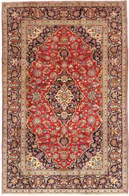 Keshan Rug 198X300 Authentic  Oriental Handknotted Dark Brown/Dark Red (Wool, Persia/Iran)