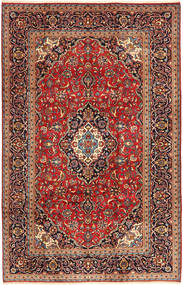 Keshan Rug 203X315 Authentic  Oriental Handknotted Dark Brown/Dark Red (Wool, Persia/Iran)
