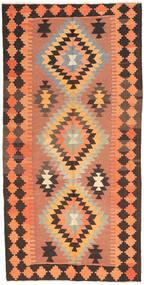 Kilim Alfombra 138X282 Oriental Tejida A Mano Marrón Claro/Naranja/Marrón Oscuro (Lana, Persia/Irán)