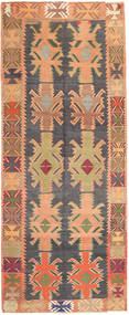 Kilim Fars Rug 142X348 Authentic  Oriental Handwoven Hallway Runner  Light Brown/Dark Beige (Wool, Persia/Iran)