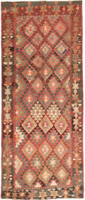 Kilim Fars Rug 157X388 Authentic  Oriental Handwoven Hallway Runner  Brown/Light Brown (Wool, Persia/Iran)