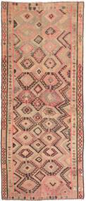Kilim Fars Tapete 146X338 Oriental Tecidos À Mão Tapete Passadeira Castanho Claro/Bege Escuro (Lã, Pérsia/Irão)
