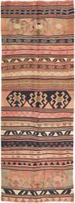 Kilim Fars Rug 142X392 Authentic  Oriental Handwoven Hallway Runner  Light Pink/Light Brown (Wool, Persia/Iran)