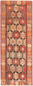 Kelim Fars Matto 145X378 Itämainen Käsinkudottu Käytävämatto Vaaleanruskea/Ruoste (Villa, Persia/Iran)