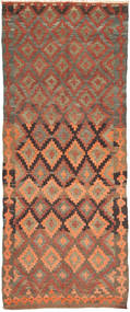 Kilim Fars Rug 136X350 Authentic  Oriental Handwoven Hallway Runner  Light Brown/Rust Red (Wool, Persia/Iran)