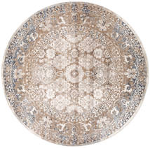 Pasha - Beige/Grey Rug Ø 200 Modern Round Light Grey/White/Creme ( Turkey)