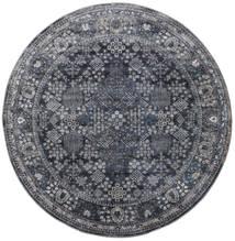 Monza - Dark Grey Rug Ø 150 Modern Round Dark Grey/Black ( Turkey)