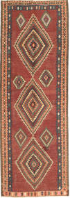Kilim Fars Rug 133X378 Authentic  Oriental Handwoven Hallway Runner  Light Brown/Brown (Wool, Persia/Iran)