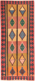 Kilim Fars Rug 145X337 Authentic  Oriental Handwoven Hallway Runner  Orange/Dark Brown (Wool, Persia/Iran)
