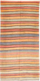 キリム ファーシュ 絨毯 163X342 オリエンタル 手織り 廊下 カーペット 薄茶色/オレンジ (ウール, ペルシャ/イラン)