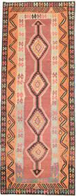 Kelim Fars Matto 146X386 Itämainen Käsinkudottu Käytävämatto Tummanbeige/Oranssi (Villa, Persia/Iran)