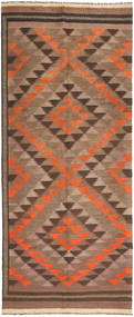 Kilim Fars Rug 148X362 Authentic  Oriental Handwoven Hallway Runner  Brown/Dark Brown (Wool, Persia/Iran)