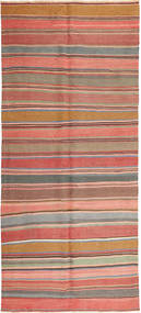 Kelim Fars Vloerkleed 162X373 Echt Oosters Handgeweven Tapijtloper Bruin/Donkerbeige (Wol, Perzië/Iran)