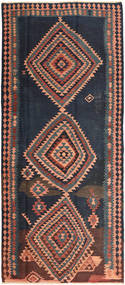 Kilim Fars Tapis 166X376 D'orient Tissé À La Main Tapis Couloir Violet Foncé/Gris Foncé (Laine, Perse/Iran)