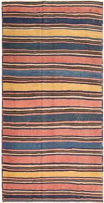 Kilim Fars Rug 190X396 Authentic Oriental Handwoven Dark Grey/Light Pink (Wool, Persia/Iran)