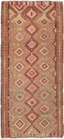 Kelim Teppe 170X380 Ekte Orientalsk Håndvevd Teppeløpere Lysbrun/Brun (Ull, Persia/Iran)