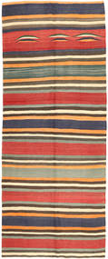 Kilim Fars Rug 152X373 Authentic  Oriental Handwoven Hallway Runner  Orange/Pink (Wool, Persia/Iran)