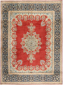 Kerman Rug 290X390 Authentic  Oriental Handknotted Rust Red/Light Brown Large (Wool, Persia/Iran)