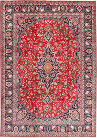 Mashad Rug 243X345 Authentic  Oriental Handknotted Light Grey/Crimson Red (Wool, Persia/Iran)