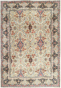 Yazd Rug 305X430 Authentic  Oriental Handknotted Beige/Dark Grey Large (Wool, Persia/Iran)