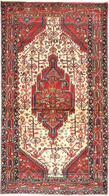 Hamadan Rug 105X198 Authentic  Oriental Handknotted Dark Red/Rust Red (Wool, Persia/Iran)