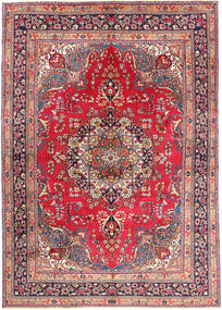 Mashad Rug 245X337 Authentic  Oriental Handknotted Dark Purple/Light Grey (Wool, Persia/Iran)